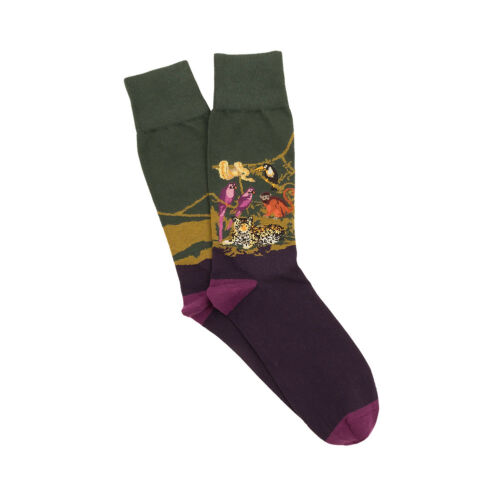 Mens Corgi Purple Jungle Scene Socks Made In The UK Sizes M//L//XL