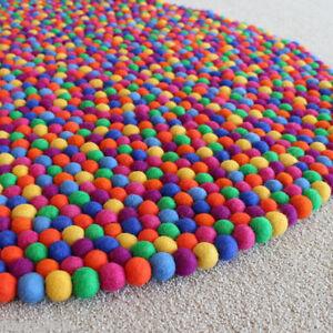 Multicolored Pom Pom Nursery Kids Room