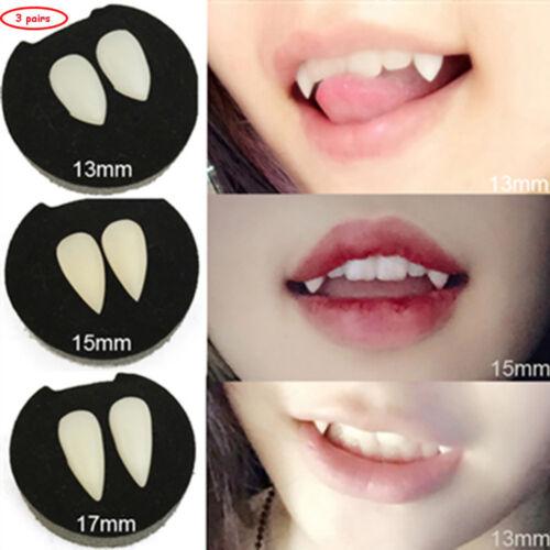 Vampire Teeth Fangs Dentures Props Halloween Costume Happy Party Scary Teeth HOT