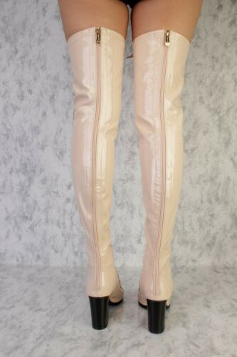 Lot LACE UP OPEN TOE Thigh Knee High Boots Faux Leather Suede Stilletos Shoes