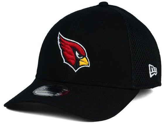 Arizona Cardinals Black Era 39thirty Neo Stretch Fit NFL Team Logo Cap Hat   b7ea1d000