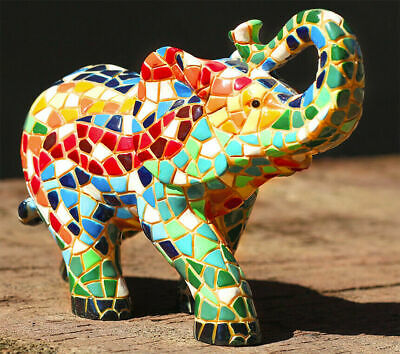 Barcino Carnival Octopus Mosaic Sculpture Resin Ceramic Hand Painted NEW