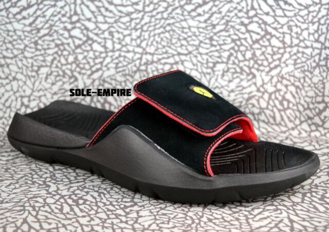 hot sale online 97614 e609a Nike Air Jordan Hydro 7 AA2517-003 Black Red Bred Retro 14 Slide Sandals NEW