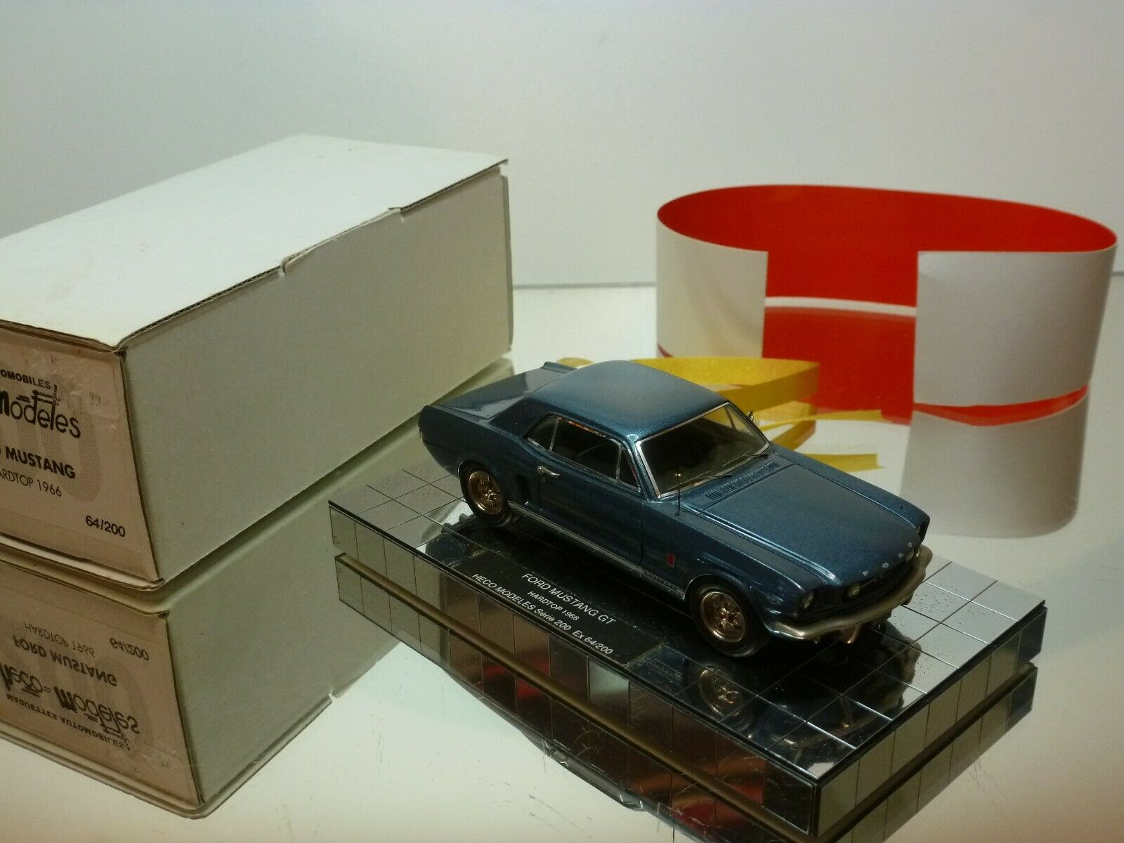 HECO MODELES FORD MUSTANG GT HARDTOP 1966 - Blau 1 43 - EXCELLENT IN BOX