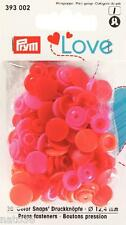 Love Druckknöpfe Color Snaps 393002 rottöne 12,4 mm Prym nähen stricken Knopf