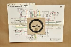 details about vtg 1987 yamaha trailway tw200 t tw200 tc color schematic wire wiring diagram wr250f wiring diagram wiring diagram 1988 yamaha tw200