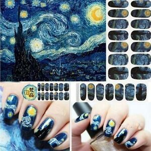 Image Is Loading Bluezoo Full Nail Art Sticker Van Gogh 039