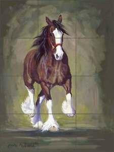 Ceramic-Tile-Mural-Backsplash-McDonald-Horse-Equine-Clydesdale-Art-MMA021