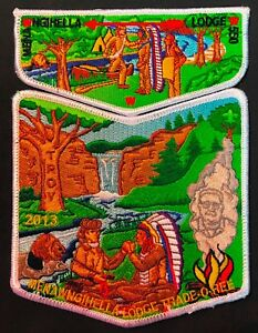 OA-MENAWNGIHELLA-550-MOUNTAINEER-COUNCIL-WV-2013-TRADE-O-REE-2-PATCH-100-MADE