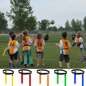 American-Football-Flag-Waist-Belt-Rugby-Tag-Adult-Adjustable-Practice-Traini-LSE
