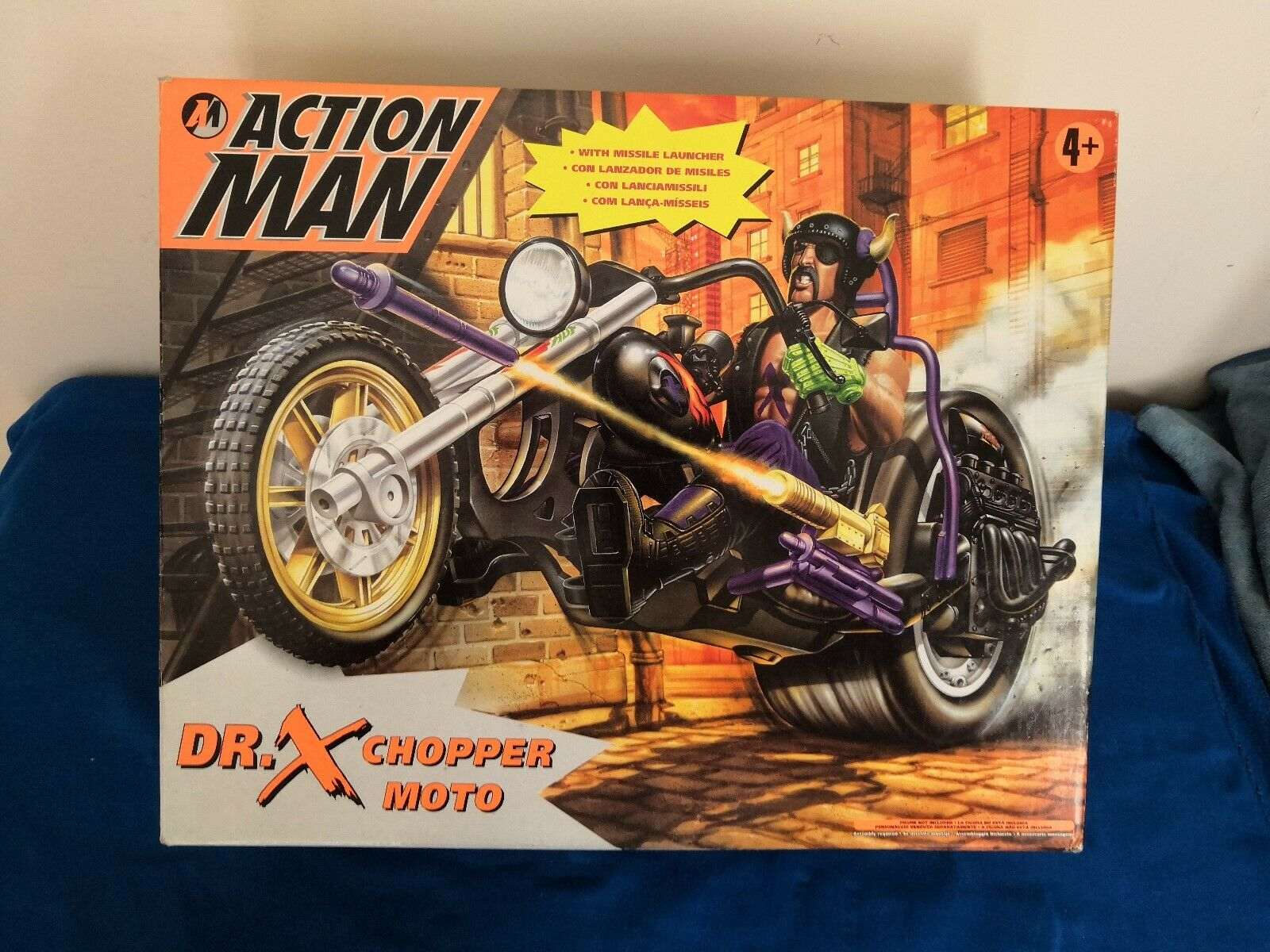 ACTION MAN CHOPPER MOTO DR X & MISSILE LAUNCHER HASBRO VINTAGE YEAR 1997