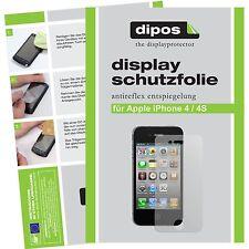 5x dipos Apple iPhone 4 / 4S Pellicola Prottetiva Antiriflesso Proteggi Schermo