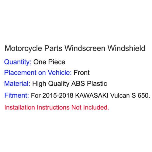 Windscreen Windshield Screen with Bracket For 2015-2018 KAWASAKI Vulcan S EN 650