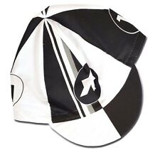 Cycling Cap Summer ASSOS Black & White Made In Italy 100% Cotton