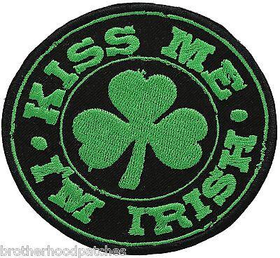 IRISH Flag Iron-On Patch Ireland MC Biker Shoulder Tactical Morale Emblem #01