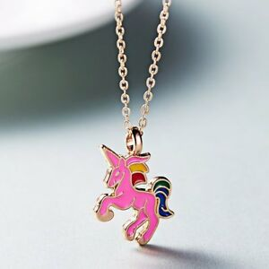 Fashion-Colorful-Animal-Horse-Charm-Pendant-Necklace-Women-Party-Jewelry-Gift