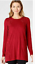 NEW-J-Jill-1X-Embroidered-amp-Beaded-Knit-Tunic-Top-Cotton-Modal-Spx-Red thumbnail 1