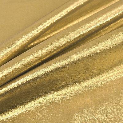 "Metallic Shiny Foil Lame Dress Craft Dance Fabric Material 45"" 114cm Width"
