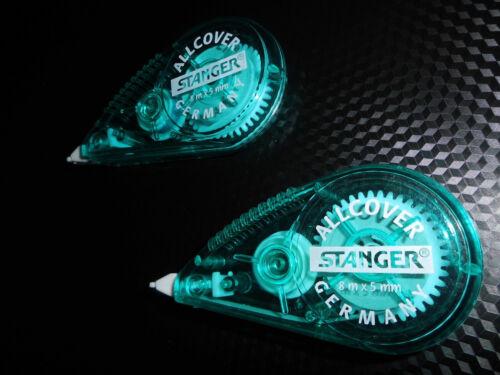 """2 x Korrektur-Roller Stanger/""""Allcover/"""" 5757 5 mm x 8 Meter OVP"""