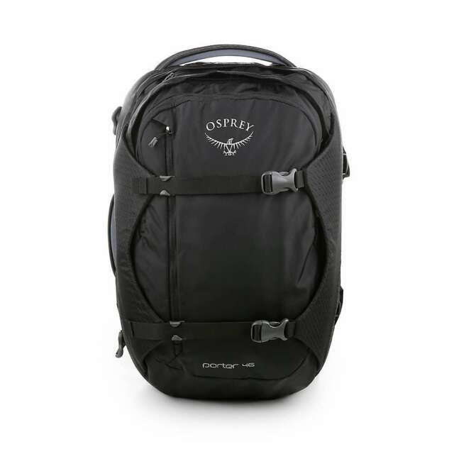 Black for sale online Osprey Porter 46 Travel Backpack