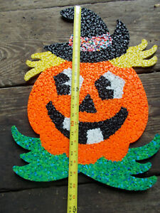 image is loading very large vintage halloween melted plastic popcorn pumpkin