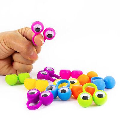 12 Augen Fingerpuppen mit Wackelaugen Kinder Spielzeug im Farbmix Party Spielen