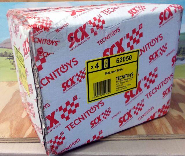 BOX OF 4 X SCX VINTAGE 1/32 62050 MCLAREN M9A DEREK BELL - LIMITED EDITION, NIB