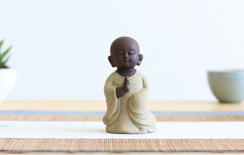 Chinese ornement fait main Bouddha petite taille Maison Bureau Pet décoration de table Zisha