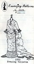 uncut 1:12 scale Emanjay Dollhouse Doll Clothes pattern #701 Marie Antoinette