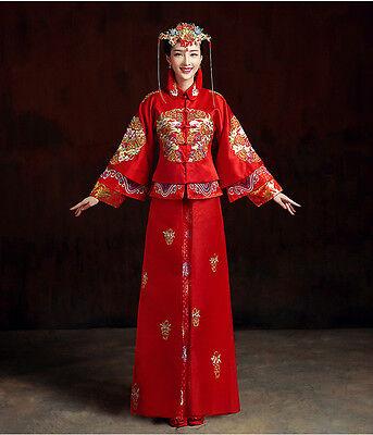 Chinese wedding dress Qipao Kwa cheongsam 1d Custom Make Avail latest fashion