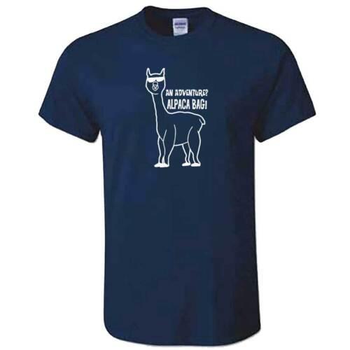 Mens Boys Llama Top Funny Farm Animal Gift Present Funny ALPACA MY BAG TShirt
