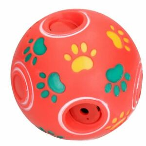 Medium Rouge Soundbite Dog Treat Ball Distributeur Interactif Slow Feed Puppy Toy-afficher Le Titre D'origine Non Repassant