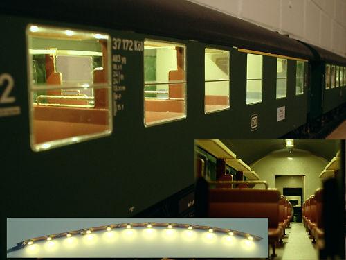 LED Personenwagen Beleuchtung digital 20cm warmweiss