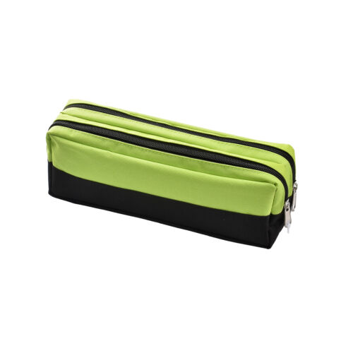 Large Double Zip Fabric Pencil Case Ideal gift For school//College// Make up Bag
