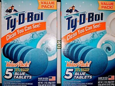Ty D Bol Blue Toilet Bowl Cleaner 5 Tablet Value Pack Free