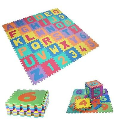 36Pcs Kids Play Mat Foam Eva Soft Learning Letters and Numbers Puzzle Colourful