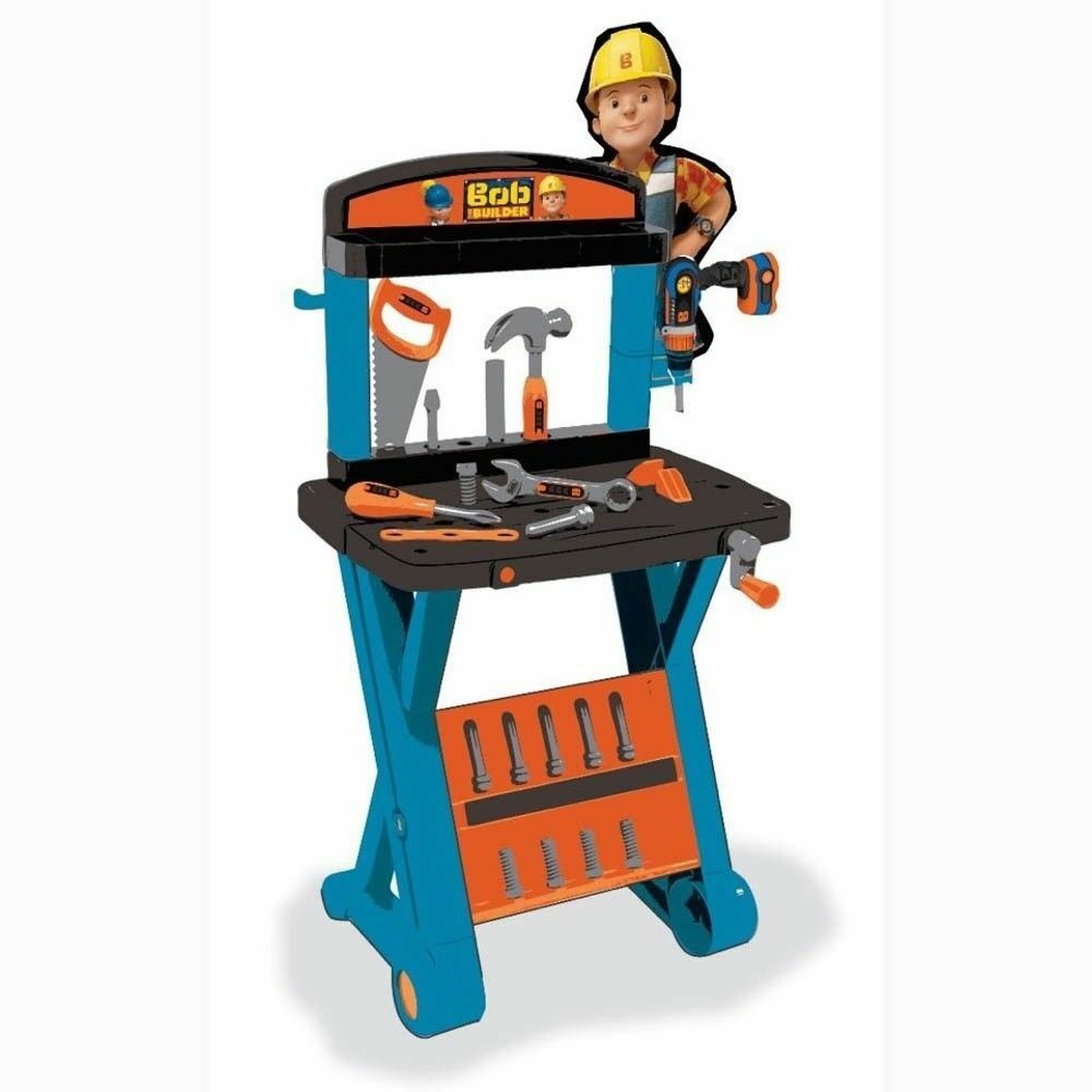 Bob the Builder 1st Workbench & Drill Toy Set - Smoby DIY Playset