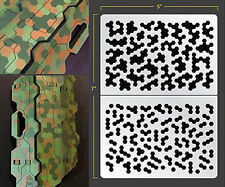 HEX CAMO SELF ADHESIVE AIRBRUSH STENCIL FOR WARGAMING FALLOUT HOBBIES