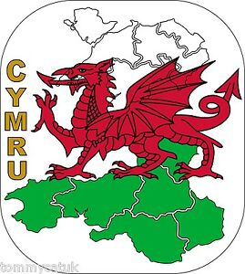 Wales Cymru Welsh Dragon Flag Map Caravan Exterior Vinyl Decals - Custom vinyl decals for caravans