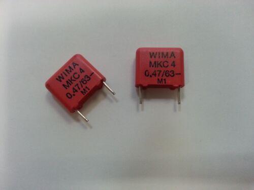 10 pcs WIMA  MKC4  Polyesterkondensator  PET  0,47uF  470nF  63V  RM10    #BP