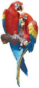 Scarlet Macaw Exotic Birds Tropical Bird Parrot Island Margaritaville Decor Art