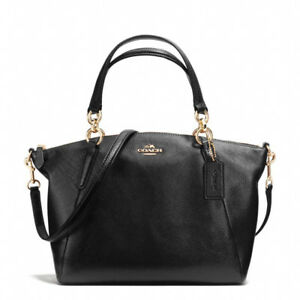 ba5a229b0c New Coach F26917 Small Kelsey Satchel In Pebble Leather Black Gold ...