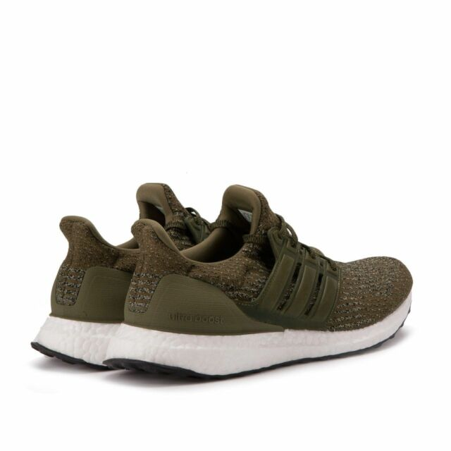 best service a593c 40fb4 NEW Adidas Ultra Boost 3.0 M Trace Olive Khaki Cargo Leather Cage White  S82018