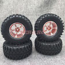 RC AXIAL WRAITH Wheel Rims 2.2 ROCK CRAWLER BEADLOCK Wheels + Tires SET (4)