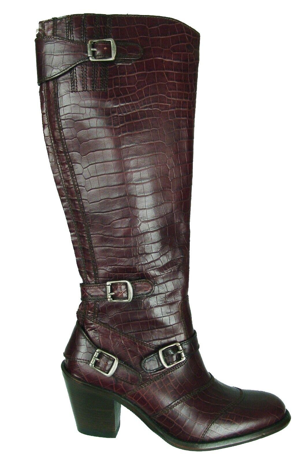 BELSTAFF Trialmaster 55 Cocodrilo Cocodrilo Cocodrilo en relieve de cuero marrón botas Zapatos Talla 36 EU  para proporcionarle una compra en línea agradable