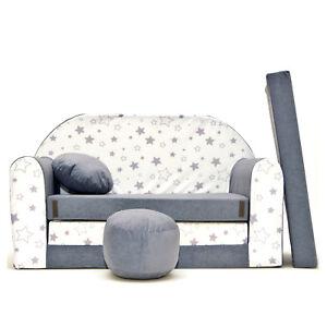 A38-Kindersofa-3-in-1-Baby-Sofa-Minicouch-Set-Sitzkissen-Matratze-Sternchen