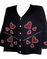 3x 24/26 Mother's Day Valentine Hearts Art Design Terazzo Womens Sweater Option