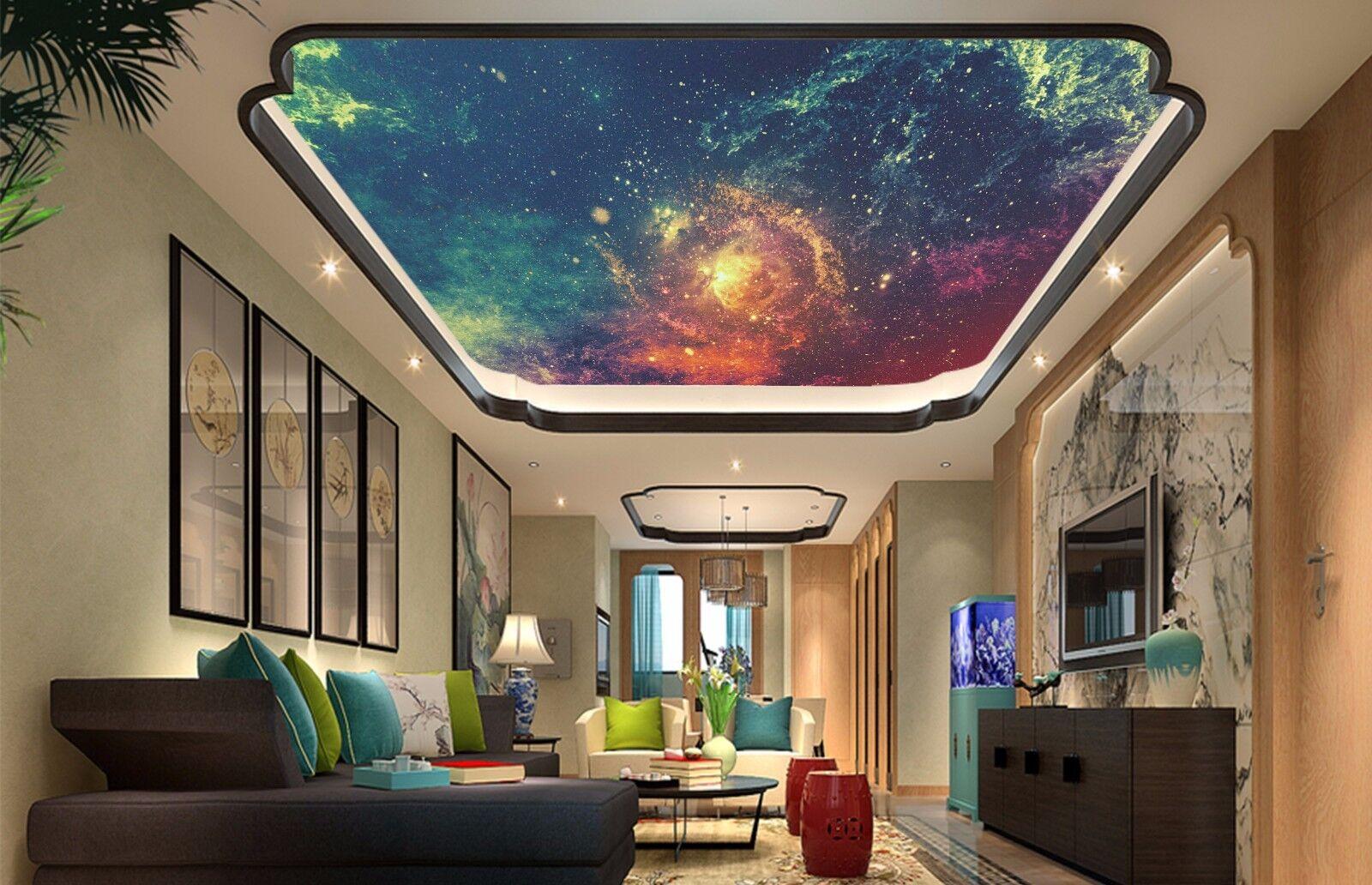 3D ColGoldt Starry 74 Ceiling WallPaper Murals Wall Print Decal Deco AJ WALLPAPER