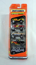MATCHBOX Rugged Riders 1997 Gift Pack 5 Truck Set Ford Jeep Chevy Mattel NEW Car