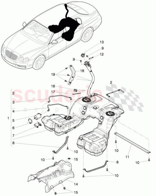 Bentley Continental Gt Flying Spur Fuel Filter Pressure Sensor